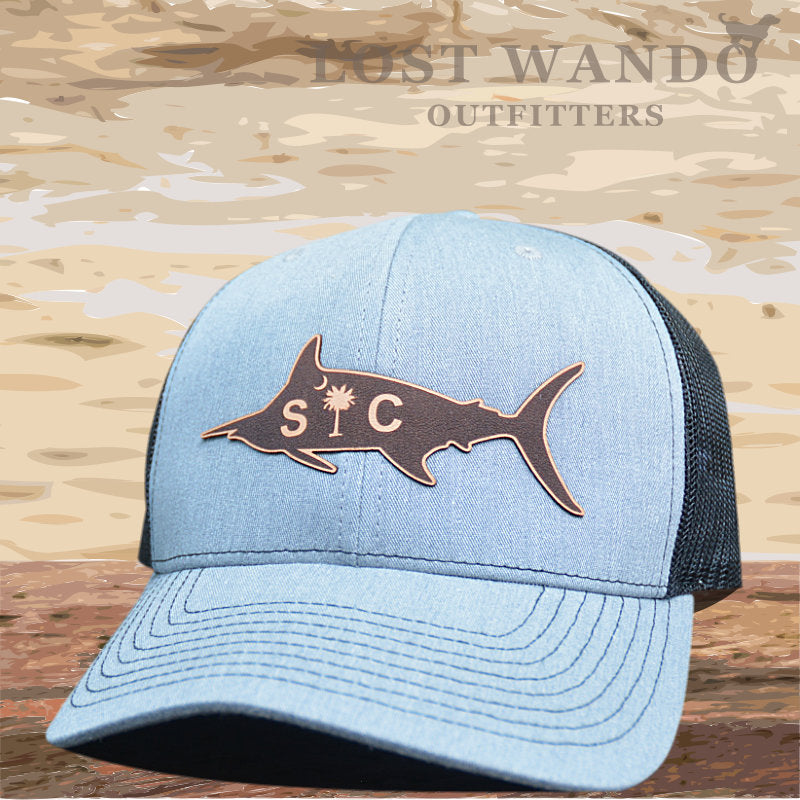 SC Marlin Etched Leather -Heather Grey- Black - Lost Wando Outfitters