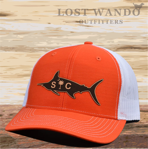 SC Marlin Etched Leather -Orange White Lost Wando Outfitters - Lost Wando Outfitters