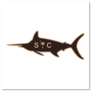 SC Marlin Etched Leather -Charcoal Black - Lost Wando Outfitters