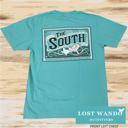 Lost Wando The South Short Sleeve Seafoam T-shirt - Lost Wando Outfitters