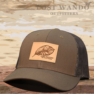 Tobacco Leaf Leather Patch Hat -Chocolate Chip-Brown - Lost Wando Outfitters