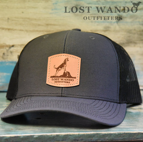 Treeing Walker Leather Patch Richardson 112 Hat Charcoal-Black Lost Wando Outfitters