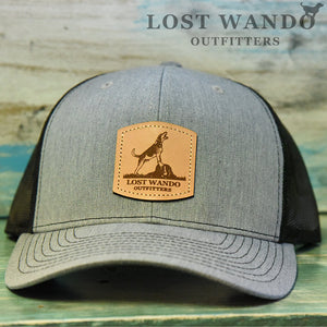 Treeing Walker Leather Patch Richardson 112 Hat Heather Grey-Black Lost Wando Outfitters
