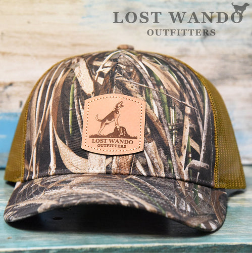 Treeing Walker Leather Patch Richardson 112P Hat Max5 - Buck Lost Wando Outfitters