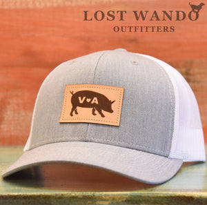 VA Pig Leather Patch - Heather Grey-White - Lost Wando Outfitters