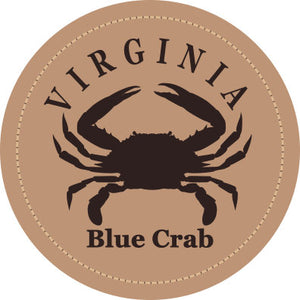 VA Blue Crab Leather Patch Hat- Smoke Blue - Aluminum Richardson 115 - Lost Wando Outfitters