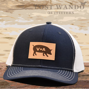 VA Pig Leather Patch Hat - Navy-White Richardson 112 - Lost Wando Outfitters