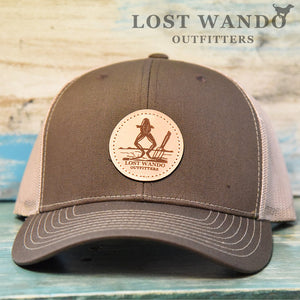 Frog Legs Leather Patch Richardson 112 Brown-Khaki Hat Lost Wando Outfitters
