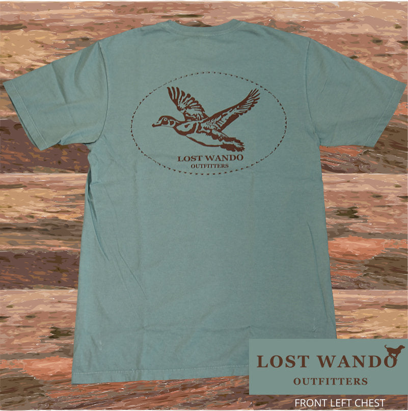 Lost Wando Wood Duck Short Sleeve Pine T-shirt - Lost Wando Outfitters
