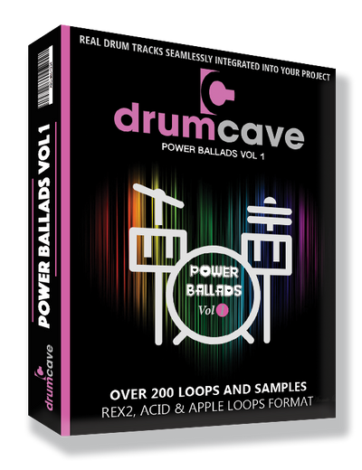 Drumcave samples loops acoustic drums Apple loops