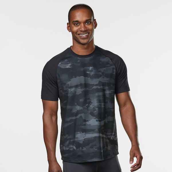 MEN'S R-GEAR BASE RUNNER PRINTED SHORT SLEEVE