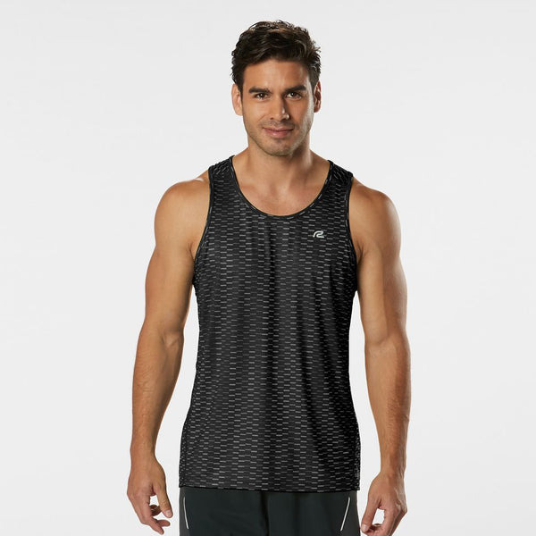 MEN'S R-GEAR RUNNER'S HIGH GEOMETRIC SINGLET