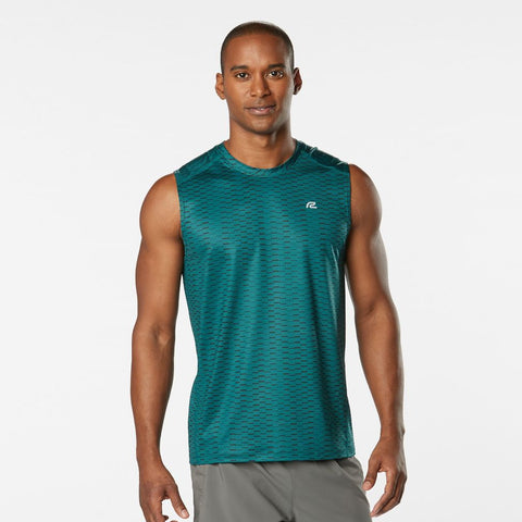 MEN'S R-GEAR RUNNER'S HIGH GEOMETRIC SLEEVELESS