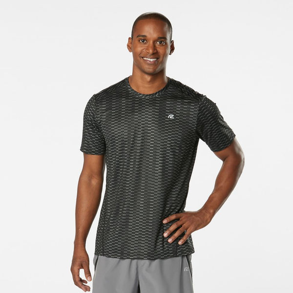 MEN'S R-GEAR RUNNER'S HIGH GEOMETRIC SHORT SLEEVE
