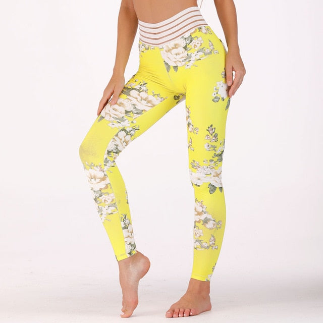 Floral Print Women Fitness Legging