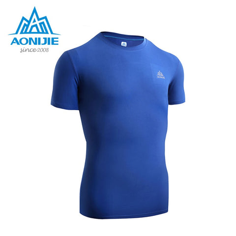 AONIJIE  Mens Fitness Breathable Tee