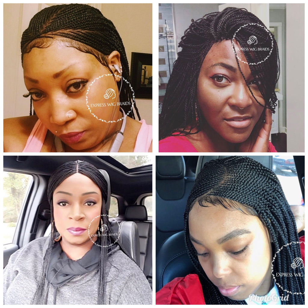 How To Wear Glue-Less Braided Wigs | Lace Hair Wigs