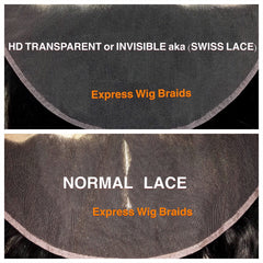 hd transparent lace swiss lace for express wig braids