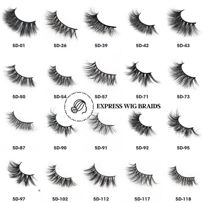 5D Mink Eye Lashes - Express Wig Braids