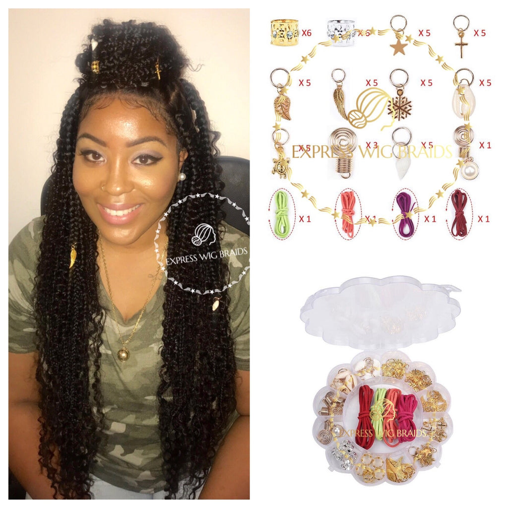 60pcs in 1pack Hair Braids Jewelry (FREE SHIPPING) - Express Wig Braids
