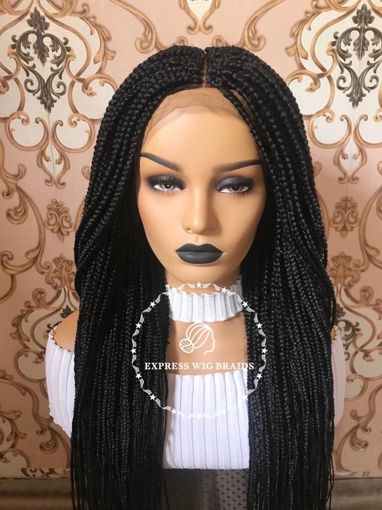 Express Wig Braids Medium Box Braids Wig With Front Lace