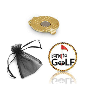 Born to Golf Golf Ball Marker and Hat Clip Gift Set