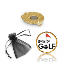 Load image into Gallery viewer, Born to Golf Ball Marker and Hat Clip Gift Set