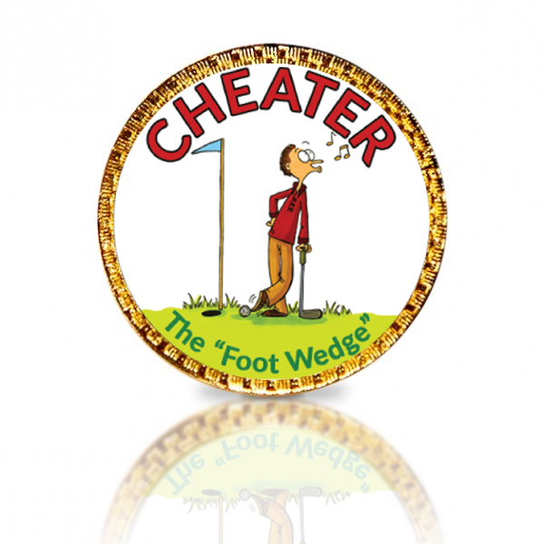 Cheater Golf Ball Marker