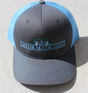 Gator Made Golf Charcoal-Columbia Blue Hat