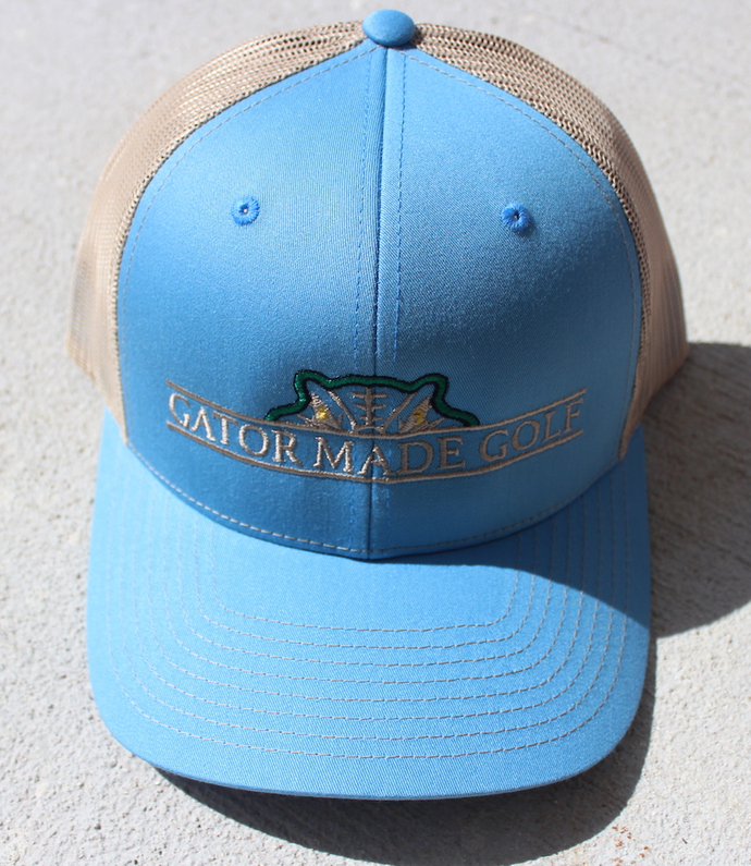 Gator Made Golf Columbia Blue-Khaki Hat