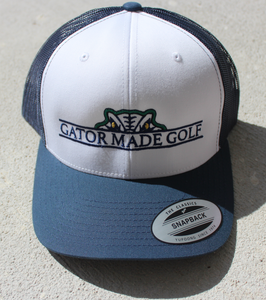 Gator Made Golf White-Navy Hat