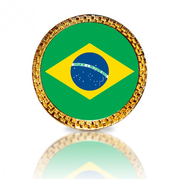 Brazilian Flag Golf Ball Marker