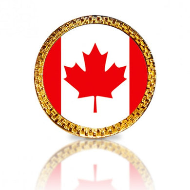 Canadian Flag Golf Ball Marker