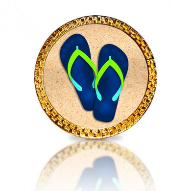 Flip Flops Blue Golf Ball Marker