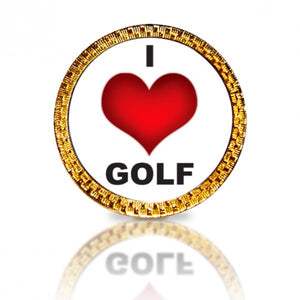 I Love Golf Golf Ball Marker