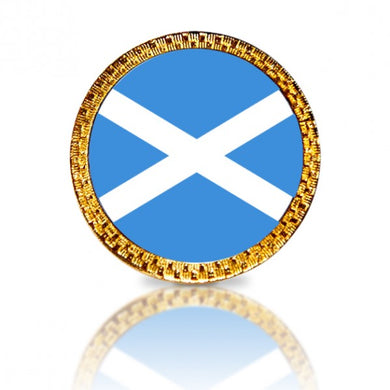 Scottish Flag Golf Ball Marker