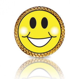 Happy Face Yellow Golf Ball Marker