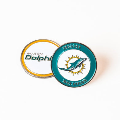 Miami Dolphins Golf Ball Marker