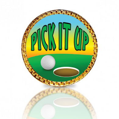 Pick It Up Golf Ball Marker