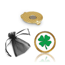 Load image into Gallery viewer, Shamrock Golf Ball Marker and Hat Clip Gift Set