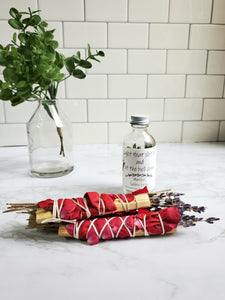 Palo Santo, Lavender and Rose Stick