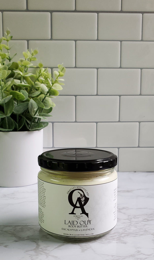 8oz glass jar of body butter