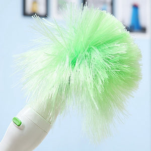 Electric Multifunction Green Feather Duster Dust Brush