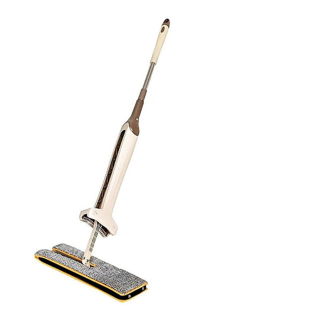 Double Sided Flat Lazy Mop 360 Degrees Cleaning Mop Self-Wringing Flipping with 2pcs Microfiber Replace Cloth