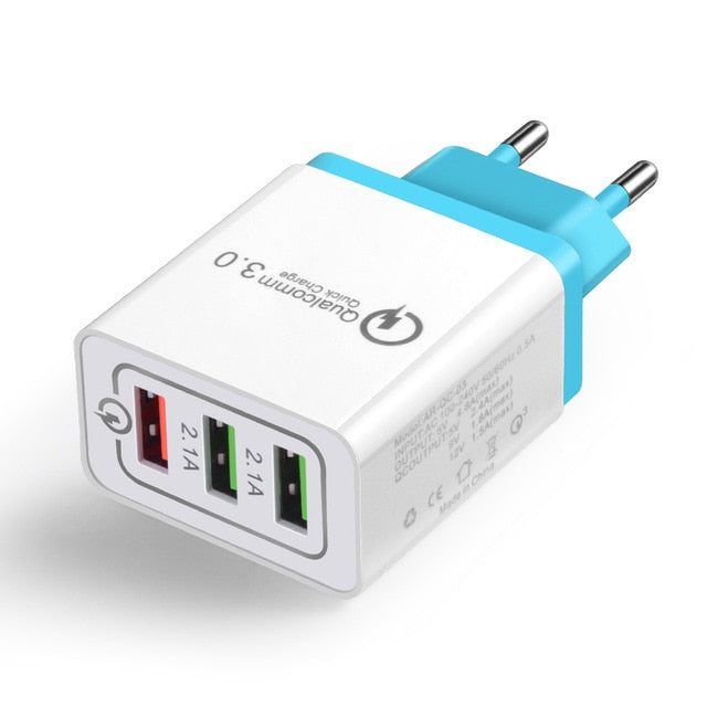 Universal 18 W USB Quick charge 3.0 5V 3A for Iphone 7 8  EU US Plug Mobile Phone Fast charger charging for Samsug s8 s9 Huawei