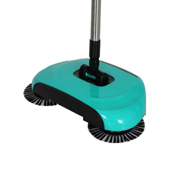 Household Hand Sweeping Machine Without Electricity 360 Degree Rotating,Automatic Cleaning Push Sweeper Broom  Dustpan Trash Bin