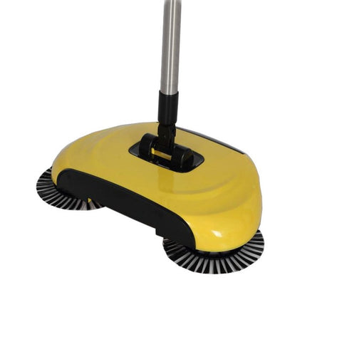 Image of Household Hand Sweeping Machine Without Electricity 360 Degree Rotating,Automatic Cleaning Push Sweeper Broom  Dustpan Trash Bin
