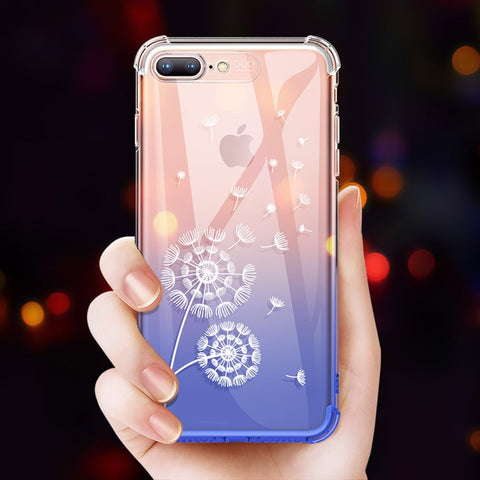 JUESHITUO Phone Case For iPhone X XR XS Max 8 7 6 6s Plus Cute Cartoon Case Cover Colorful Gradient Patterned Cases For iPhone X