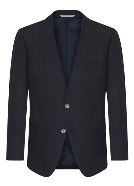 Samuelsohn Navy Ice Wool Blazer - Contemporary Fit