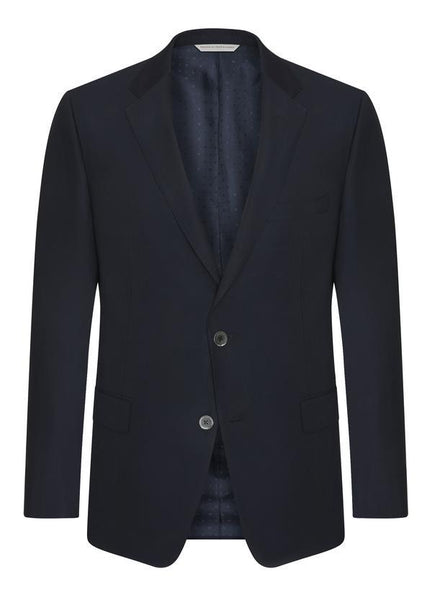 Samuelsohn Blue Double Twist Blazer - Contemporary Fit